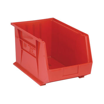 Quantum Storage Systems Ultra Stack And Hang Bin 18Lx 11W X 10H - Red Pack Of 4