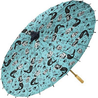 Mermaids Flash Print Parasol from Sourpuss - SALE