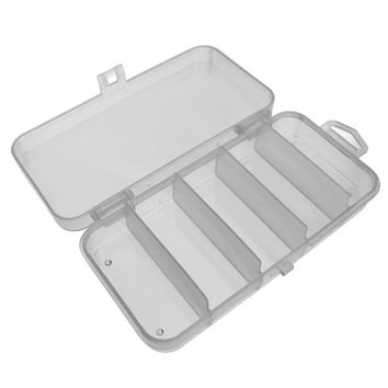 Portable 5/6/10/15 Slots Plastic Fishing Lure Hook Tackle Box Storage Case Organizer Multifunctional Fishing Tackle Box