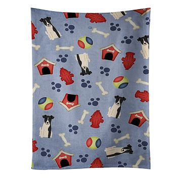Dog House Collection Smooth Fox Terrier Kitchen Towel BB2711KTWL