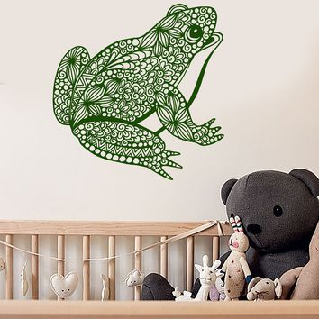 Vinyl Wall Decal Abstract Frog Animal For Children's Room Stickers Unique Gift (1988ig)