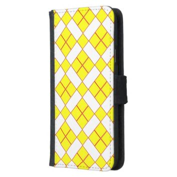 Yellow Squares Samsung Galaxy S5 Wallet Case