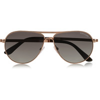 Tom Ford - Marco aviator-style gold-tone sunglasses