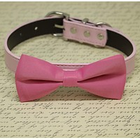 Pink Dog Bow Tie collar, Pet wedding Accessory, Dog Birthday Gift, Love Pink