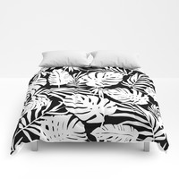 Urban Jungle Black Comforters by Heather Dutton