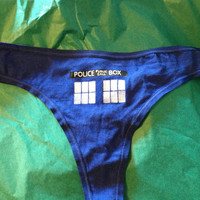 LIMITED TIME ONLY Dr. Who Tardis single panty