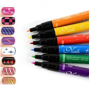 Nail Art Pen Painting Design Tool Drawing for UV Gel Polish 12 colors New Arrival