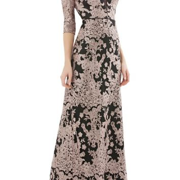 JS Collections Embroidered Lace Gown | Nordstrom