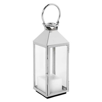 Eichholtz Vanini Lantern with Handle Nickel - M