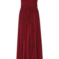 Rare Opulence Braid-embellished satin-jersey dress / THE OUTNET