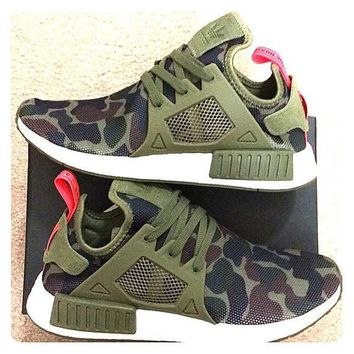 Adidas NMD XR1 Duck Camo Women Men Running Sport Casual Shoes Sneakers Camouflage Green