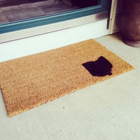 """Personalized state welcome mat - Ohio - 18x30"""" coir fiber"""