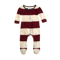 crewcuts Baby Footsie Coverall In Rugby Stripe