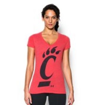 Under Armour Women's UA Charged Cotton Tri-Blend Cincinnati V-Neck
