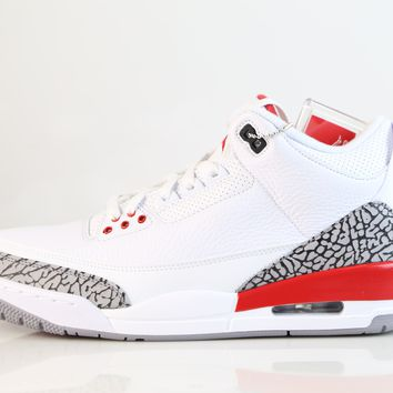 BC SPBEST Nike Air Jordan Retro 3 Katrina White Red 2018 Adult and GS Kids