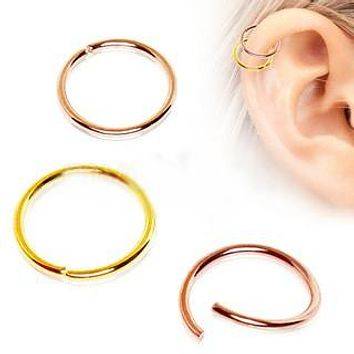 Gold Annealed Seamless Ring