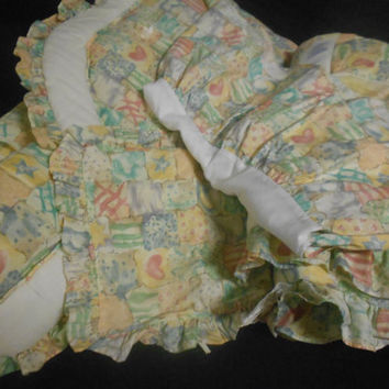 Vintage crib set, vintage crib bedding