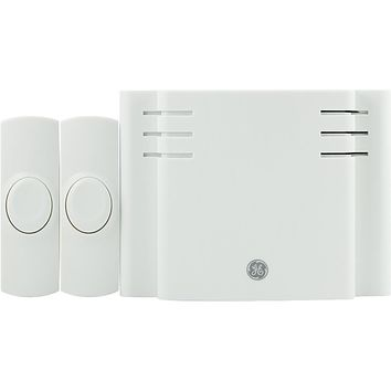 Ge Battery-operated 8-melody Door Chime With 2 Pushbuttons