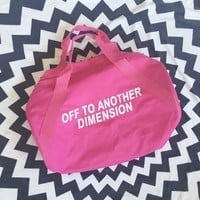 Off To Another Dimension Duffel Bag- Pink