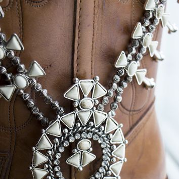 The White Buffalo - Faux Squash Blossom Style Necklace