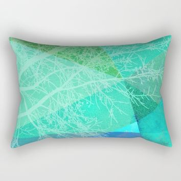 P19-C Trees and Triangles Rectangular Pillow by Pia Schneider [atelier COLOUR-VISION]