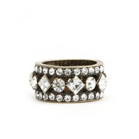 Charlotte Russe - Burnished Diamond Band Ring