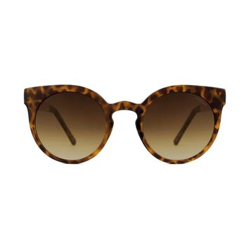 Komono - Lulu Metal Series Tortoise Rose Gold Sunglasses / Polycarbonate Gradient Brown Lenses