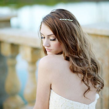 Adorned crystal hair comb - style 1101