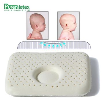 PurenLatex 30*25*5 Thailand Natural Pure Kids Latex Pillow Young Kids Head Neck Spine Protective Pillow Head Shape Correcting