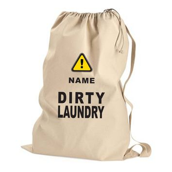 Dirty Laundry! - Laundry Bag with the Name of Your Choice