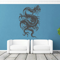 kik1578 Wall Decal Sticker Dragon Chinese mythological beast bedroom living room
