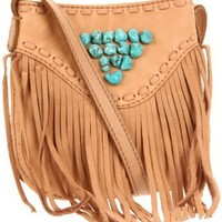 Amazon.com: Lucky Brand  Indigo Fringe HKRU1386 Crossbody,Camel,One Size: Clothing