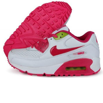 """NIKE"" Fashion Women/man Running Sport Casual Shoes Sneakers rose red and white"
