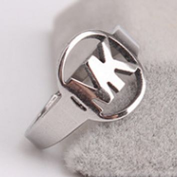 MK silver titanium ring ring men and women ring jewelry