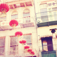 San Francisco photography, red paper lanterns, Chinatown photography, ni hao, asian decor, orange yellow romantic travel, Chinese New Year