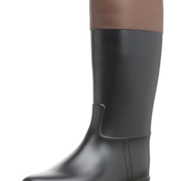 igor Girl's Carla Black & Brown Rain Boot