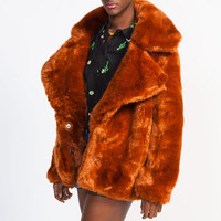Gypsy Junkies 'Bowie' Faux Fur Coat