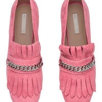 Suede loafers - Pink - Ladies | H&M GB