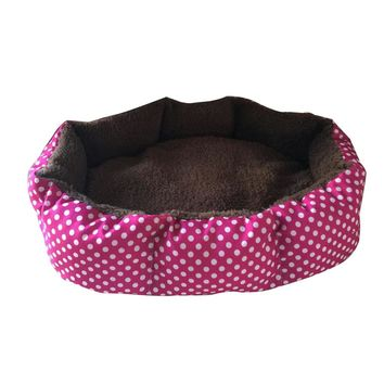 Soft Velvet Pet Dog Puppy Cat Warmer Bed Plush Comfort Nest