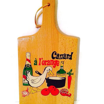 Vintage Cutting Board Wall Decor by NEVCO for Vintage Kitchen