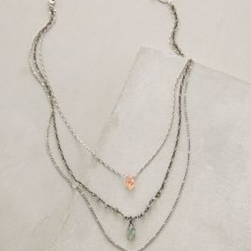 Verdia Layered Necklace by Anthropologie Silver All Necklaces