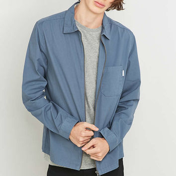 Shore Leave by Urban Outfitters Blake Powder Blue Overshirt - Urban Outfitters