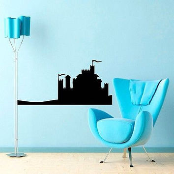 CASTLE WALL VINYL STICKER  DECALS ART MURAL B366