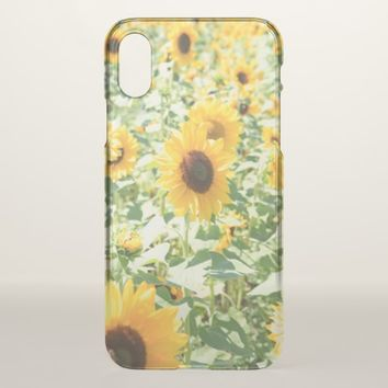Vibrant Colors Beautiful Yellow Sunflower Field iPhone X Case