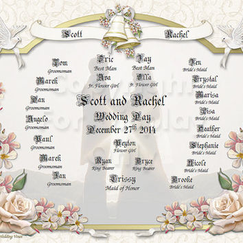 NEW!! Bride and Groom and Wedding Party Keepsake Reserved for Diane