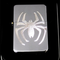 Spiderman Spider Man Comic Engraved Chrome Cigarette Favor Lighter Gift LEN-0022