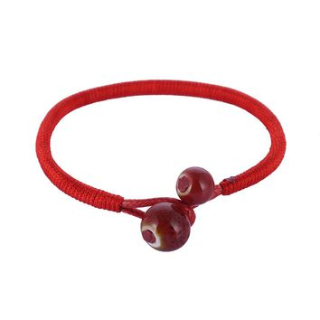 2pcs/set Lucky Ceramic Red String Bracelets  1263