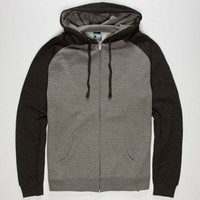 STANDARD SUPPLY Mens Raglan Zip Hoodie | Sweatshirts