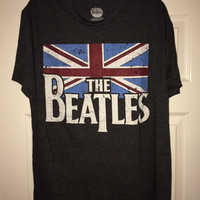 Sale!! Vintage THE BEATLES Gray T-shirt band tee