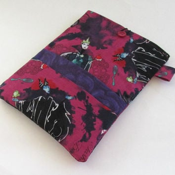 Maleficent Kindle Cover / Disney Villains Nook Case / Cruella De Vil Tablet Sleeve / Evil Queen